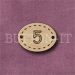 Oval Number Button 5