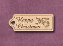 T-HCA Happy Christmas Angel 39mm x 15mm