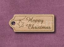 T-HCS Happy Christmas Star 39mm x 15mm
