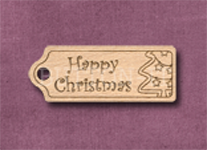 T-HCT Happy Christmas Tree 39mm x 15mm