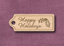 T-HHH Happy Holidays Holly 39mm x 15mm