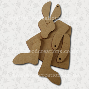 3D Craftwood Bunny Critter Kit