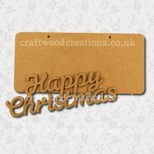 Craftwood Happy Christmas Sign