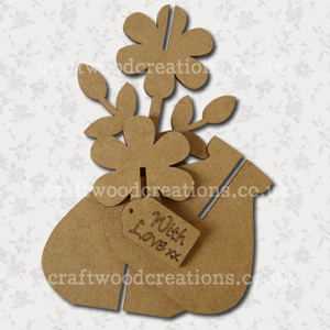 3d Craftwood Flower Vase Kit