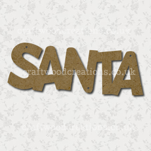 Craftwood Santa Word