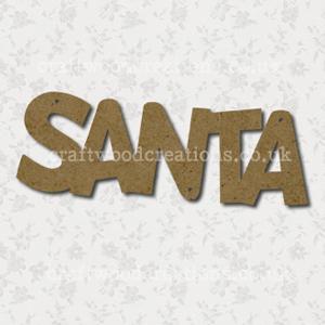 Craftwood Santa Word