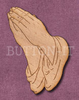 Laser Engraved Praying Hands Craft Shape