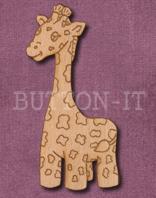 Laser Engraved Giraffe Craft Shape