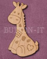 Laser Engraved Giraffe Soft Toy Craft Shape