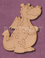 Laser Engraved Cute Dragon Craft Shape