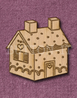 Laser Engraved Gingerbread House Shape