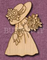 Laser Engraved Flower Girl Crfat Shape