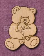 Laser Engraved Teddy Bear with Teddy Craft Shape