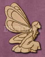 Laser Engraved Fairy Craft Shape