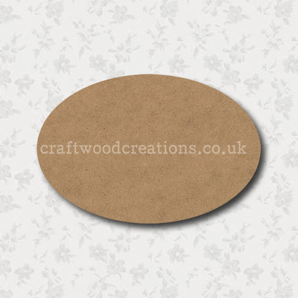 Craftwood Oval Room Sign Blank