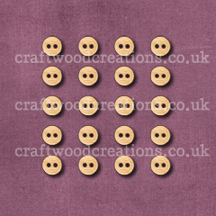 Mini Round Buttons Laser Cut