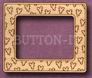 Mini Photo Frame Laser Engraved & Cut