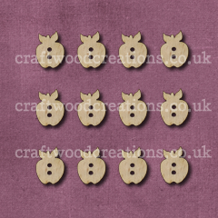 Midi Apple Shaped Buttons Laser Cut
