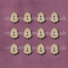 Midi Acorn Shaped Buttons Laser Cut