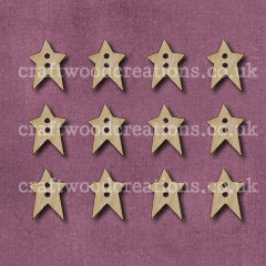 Midi Prim Star Shaped Buttons Laser Cut