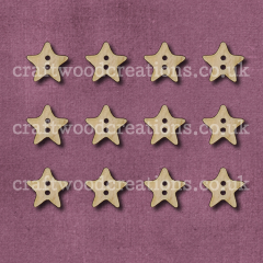 Midi Star Shaped Buttons Laser Cut