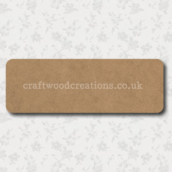 Craftwood Oblong Room Sign Blank