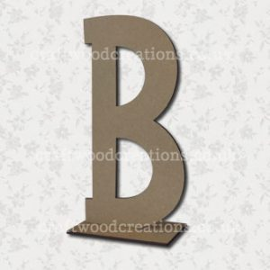 Free Standing Mdf Letter B