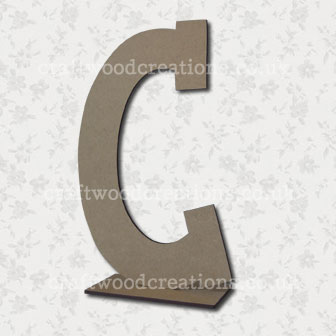 Free Standing Mdf Letters C