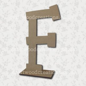 Free Standing Mdf Letters F