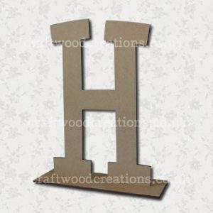 Free Standing Mdf Letters H