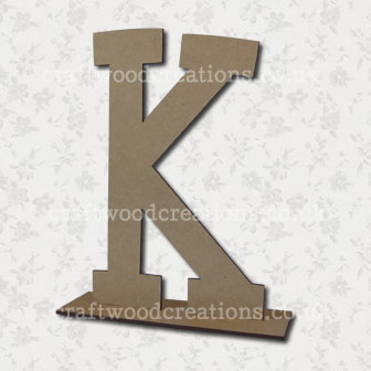 Free Standing Mdf Letters K