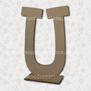 Free Standing Mdf Letters U