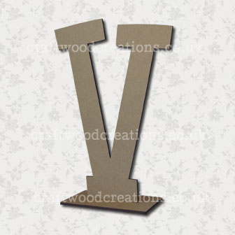Free Standing Mdf Letters V