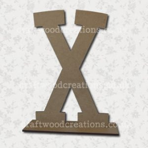 Free Standing Mdf Letters X