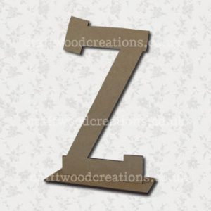 Free Standing Mdf Letters Z