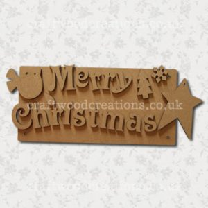 Merry Christmas Sign MDF