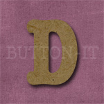 Typewriter Style MDF Letter D