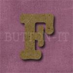 Typewriter Style MDF Letter F