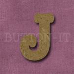 Typewriter Style MDF Letter J