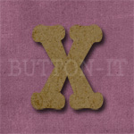 Typewriter Style MDF Letter X