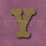 Typewriter Style MDF Letter Y