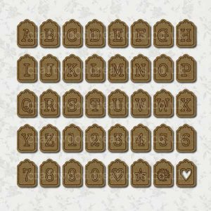 Alphabet Tags made fro 2.5 mm premium grade MDF