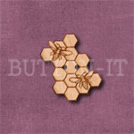 Honeycomb Bees Button