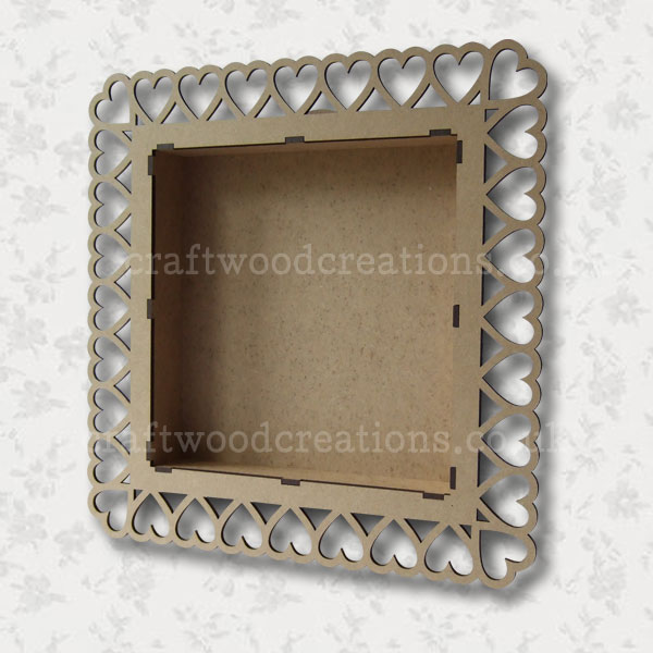 Shadow Box with cut heart frame