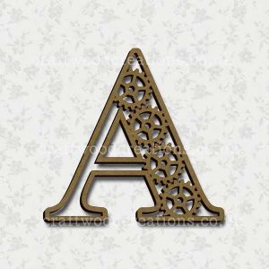 Steampunk Cog Alphabet Letter A