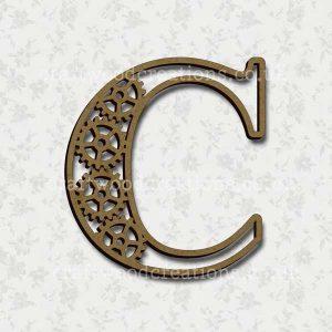 Steampunk Cog Alphabet Letter C