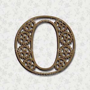 Steampunk Cog Alphabet Letter O