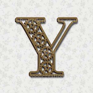 Steampunk Cog Alphabet Letter Y