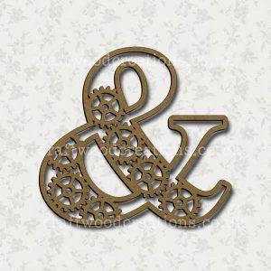 Steampunk Cog Alphabet Letter & (ampersand)