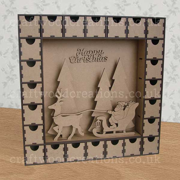 Advent Calendar with Santa and Sleigh